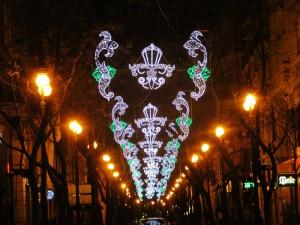 fallas luces calles