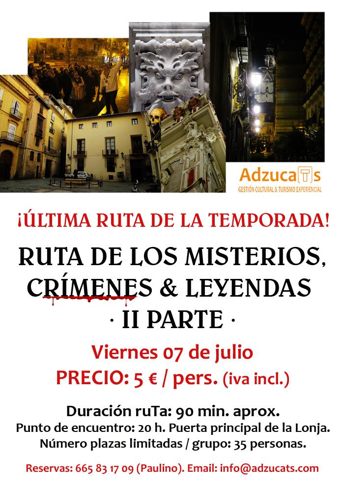 ruta misterios crimenes leyendas valencia adzucats rutas especiales mes valencia