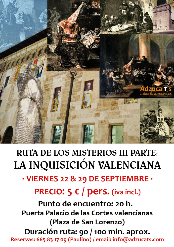 ruta inquisicion valenciana rutas guiadas adzucats