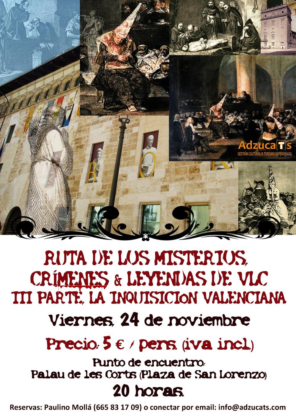 ruta misterios la inquisicion valenciana rutas guiadas adzucats