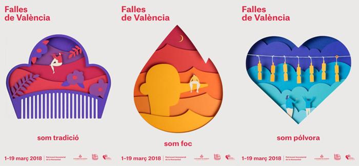 carteles oficiales fallas 2018
