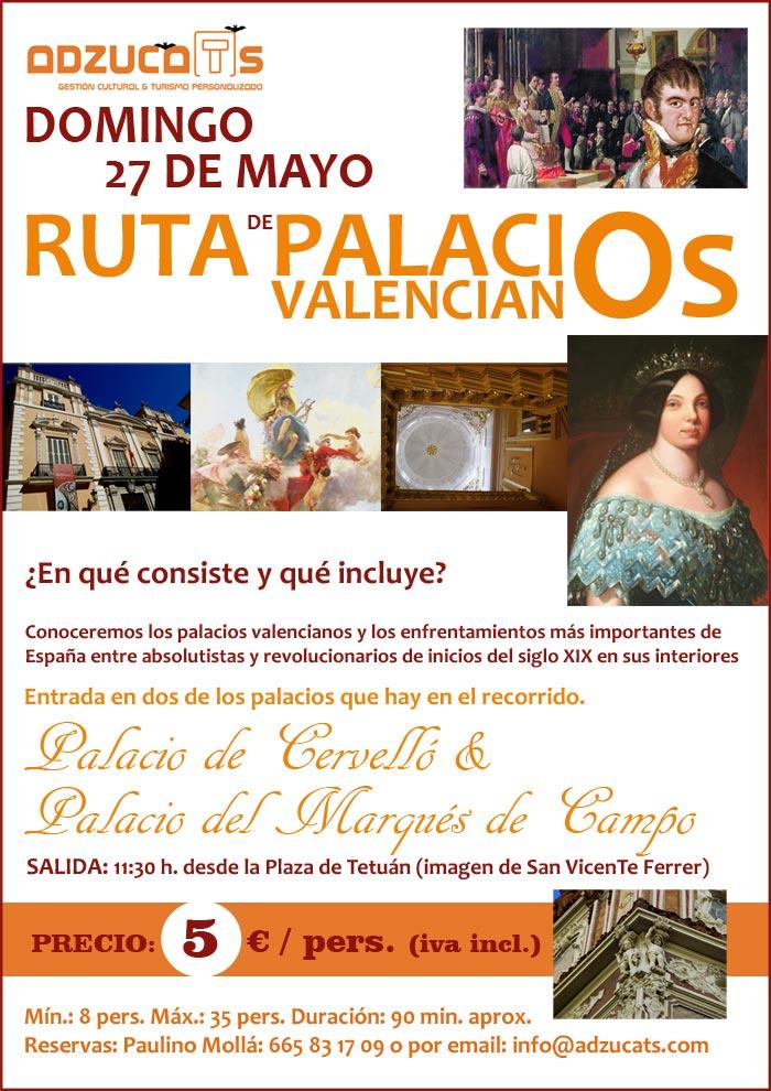 ruta palacios valencianos adzucats