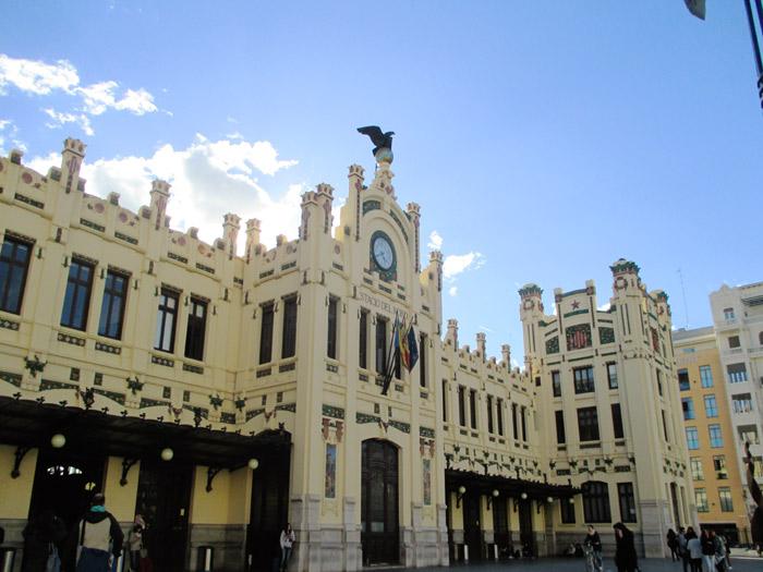 Estación del norte o de ferrocarril Adif de Valencia. C/ Xàtiva.