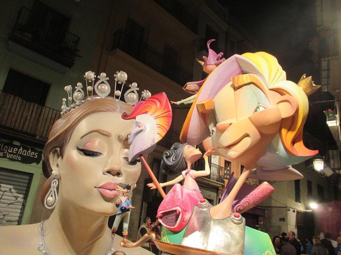 Falla-Corregeria. Artista: Guillermo Rojas. Lema: Princesas. Sección 6ª A.