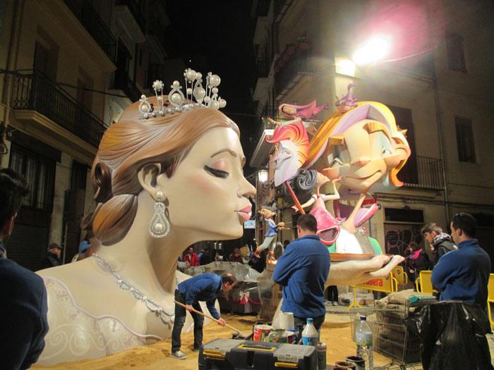 Falla-Corregeria-Bany dels pavesos. Artista: Guillermo Rojas. Lema: Princesas. Sección 6ª A. 2º premio.