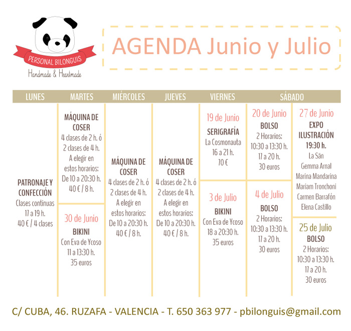 personal bilonguis agenda junio julio