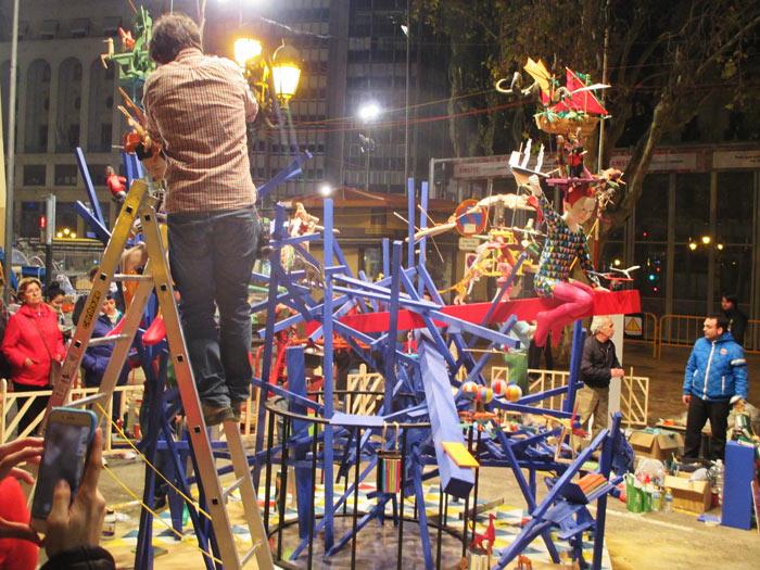 Plantá fallas infantiles 2017- Na Jordana Almirante Cadarso Plaza Ayuntamiento