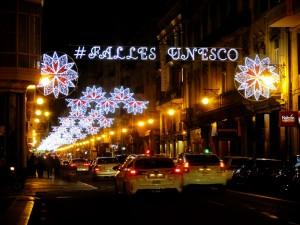 luces fallas valencia 2017 calle paz