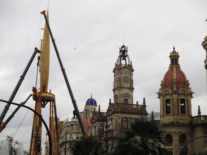 plantá fallas-2017 plaza ayuntamiento