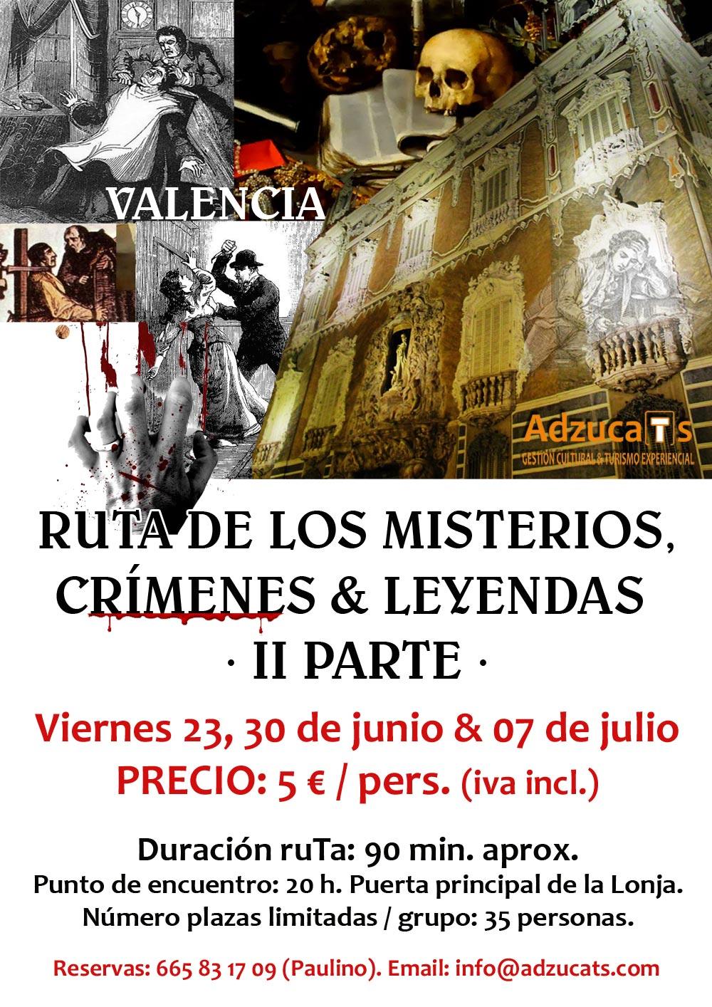 ruta misterios crimenes leyendas valencia rutas guiadas adzucats valencia