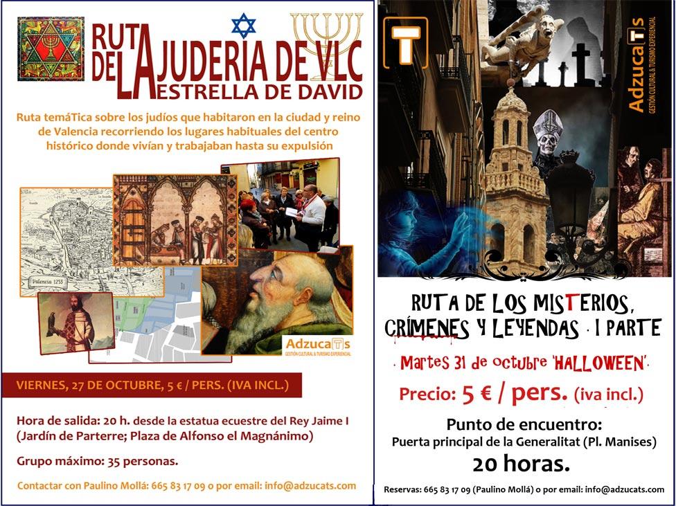 ruta juderia valenciana ruta misterios valencia pack rutas guiadas adzucats